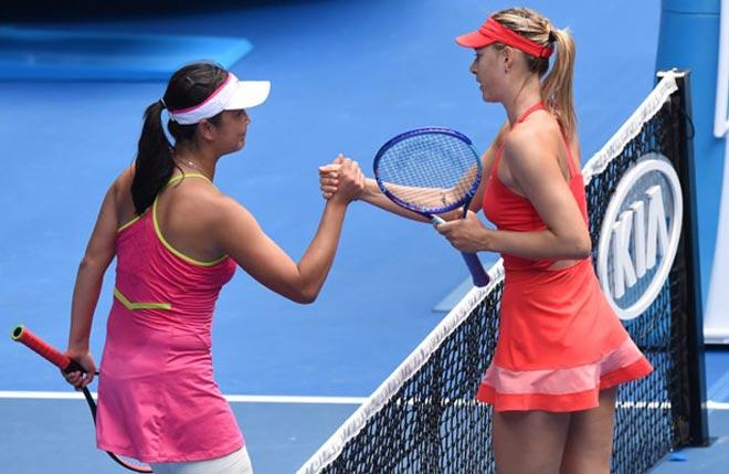 Sharapova - Shuai Peng: Màn công phá quá hay (BK Thiên Tân) 1