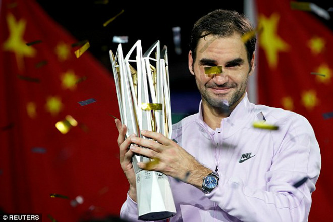 """Chung kết Thượng Hải Masters: Federer """"hành hạ"""" Nadal & phút giây vỡ òa 8"""