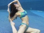 Tập tạ dưới nước khiến bà mẹ 4 con được chồng yêu chiều hết mực