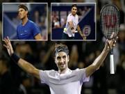 """Chung kết Thượng Hải Masters: Federer  """" hành hạ """"  Nadal  & amp; phút giây vỡ òa"""