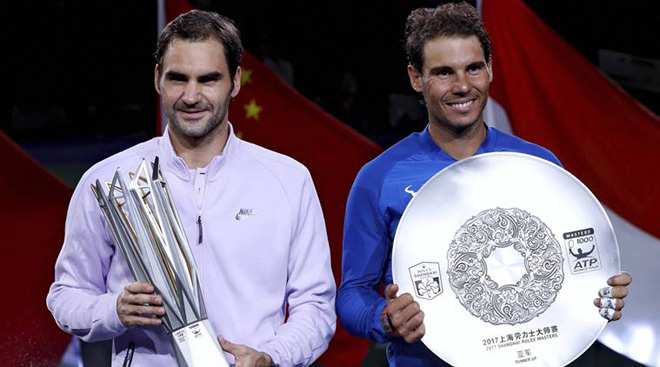 """Bảng xếp hạng tennis 16/10: Federer tăng tốc, Nadal bắt đầu """"run"""" 1"""