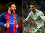 """Messi 11 bàn/8 trận vẫn  """" đen """"  nhất châu Âu, Ronaldo siêu  chân gỗ"""