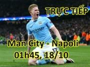 TRỰC TIẾP Man City - Napoli: Gabriel Jesus thống lĩnh hàng công