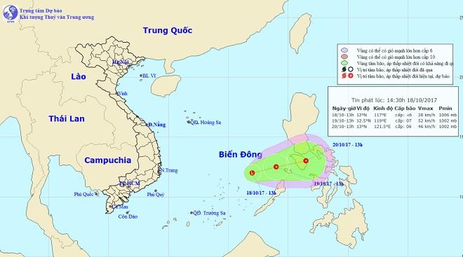 Bão số 11 vừa tan, Biển Đông lại xuất hiện vùng áp thấp - 1