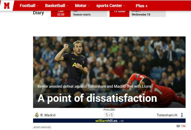 Báo Anh tiếc vì Tottenham hòa Real, khen Harry Kane ngang cơ Ronaldo 4