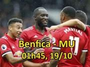 """Benfica - MU: Mourinho sửa sai, quyết bẻ cánh  """" Đại bàng """""""