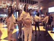 """Hội mẹ bầu quẩy sung  """" rung """"  cả ga tàu điện ngầm TQ"""
