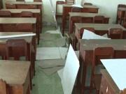 Sập la phông trường học, 9 học sinh tiểu học nhập viện