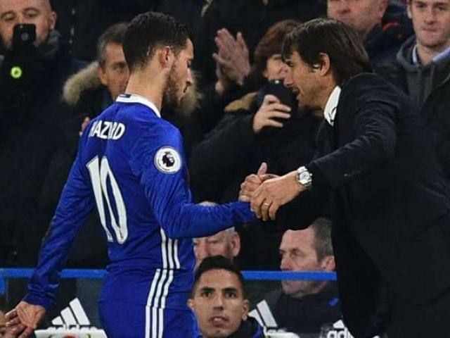 """Chelsea thoát thua, Hazard phá dớp vẫn hận Conte """"thấu xương"""""""