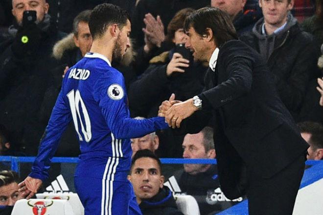 """Chelsea thoát thua, Hazard phá dớp vẫn hận Conte """"thấu xương"""" 2"""