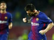"""Ronaldo gọi, Messi trả lời:  """" Húc """"  đổ mốc 100 bàn cúp châu Âu"""