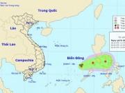 Vùng áp thấp trên Biển Đông di chuyển chậm, có khả năng mạnh thêm
