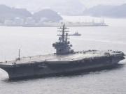 40 tàu chiến Mỹ tập trận, Triều Tiên dọa tung đòn không thể hình dung