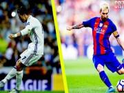 """Messi sút phạt siêu hạng, vẫn  """" hít khói """"  kỷ lục của Ronaldo"""