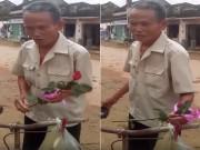 Cụ ông xứ Nghệ đạp xe cà tàng mua hoa hồng tặng vợ 20/10