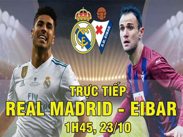 TRỰC TIẾP bóng đá Real Madrid - Eibar: Không thắng, khó mơ bắt kịp Barca