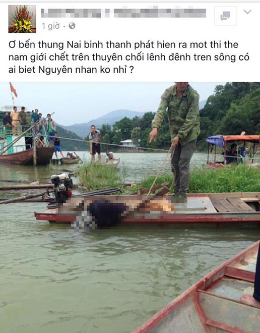 Phát hiện thi thể nam thanh niên đầu chúc xuống nước, người trên thuyền - 1