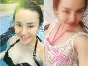 """Trước khi bị tố  """" giật chồng """" , Vy Oanh mặc bikini quyến rũ khó rời mắt"""