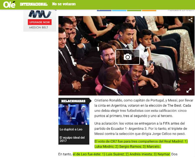 """Ronaldo hay nhất: Báo chí kính nể tôn là """"Vua"""", Messi - Ronaldo không bầu cho nhau - 3"""