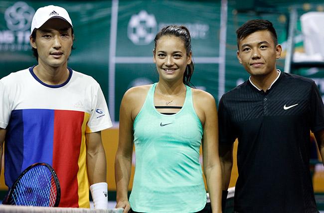 Hoa khôi quần vợt tiếp lửa Hoàng Nam ra quân Vietnam Open 3