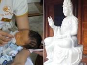 Tiếng khóc phát ra sau lưng tượng Phật và cái kết không ngờ