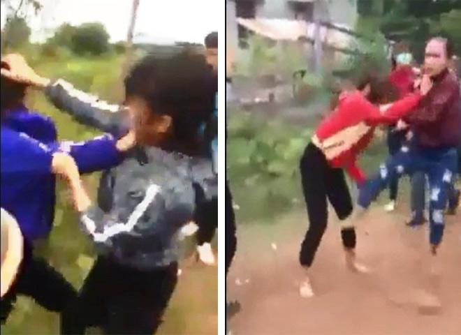 """Nhóm nữ sinh đánh nhau """"2 hiệp"""" và chỉ giải tán khi nghe nói câu này"""