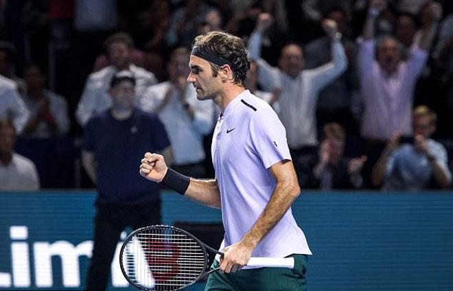 Federer - Goffin: Ra đòn giật gân (Bán kết Basel Open) 1