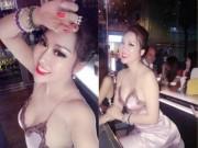 """Đâu phải lần đầu Phi Thanh Vân mặc váy ngủ khoe vòng 3  """" khủng """"  trên 1 mét"""
