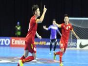 Futsal Việt Nam đại thắng 18 bàn: Tưng bừng đoạt vé bán kết