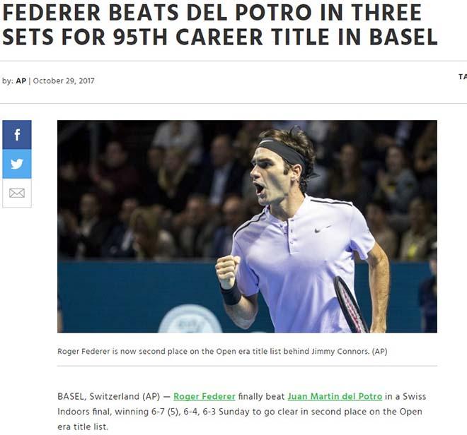 Federer 8 lần đăng quang Basel Open: Báo chí thế giới ngả mũ thán phục 4