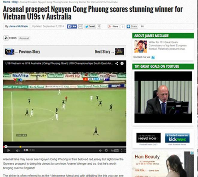 """Siêu phẩm bóng đá Việt Nam: Beckham, James Rodriguez cũng """"phải nể"""" 4"""