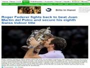 Thể thao - Federer 8 lần đăng quang Basel Open: Báo chí thế giới ngả mũ thán phục
