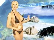 Choáng vì MC sexy nhất nước Nga toàn mặc nội y, bikini, váy ngủ khi lên sóng