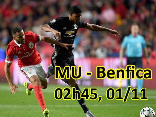 TRỰC TIẾP bóng đá MU - Benfica: Martial & Lingard xuất phát 25
