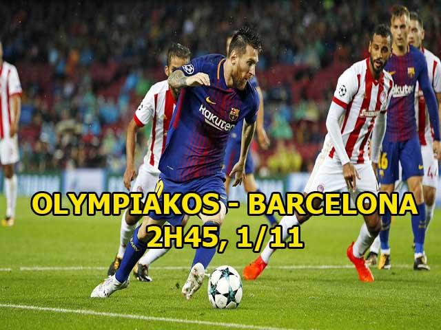 Olympiakos - Barcelona: Messi thăng hoa, Barca nghiền nát mọi vật cản