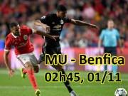 """Bóng đá - MU - Benfica: Quyết bắn hạ """"đại bàng"""", bay qua vòng bảng"""