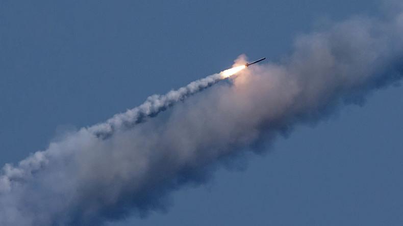 Tàu ngầm Nga nã xối xả tên lửa vào khủng bố IS ở Syria - 1