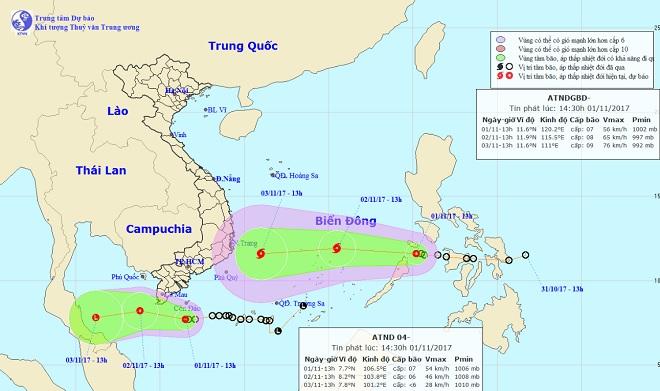 Áp thấp nhiệt đới kết hợp triều cường, Nam Bộ nguy cơ ngập sâu - 1
