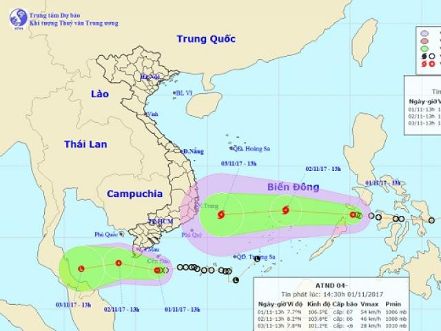 Bão số 12 chính thức vào Biển Đông, hướng thẳng Bình Định-Ninh Thuận - 2