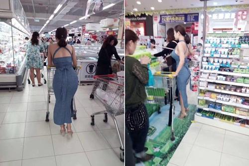 Chỉ đi siêu thị, cô gái cũng gây sốt mạng vì vòng 1 và vòng 3 quá khủng - 1