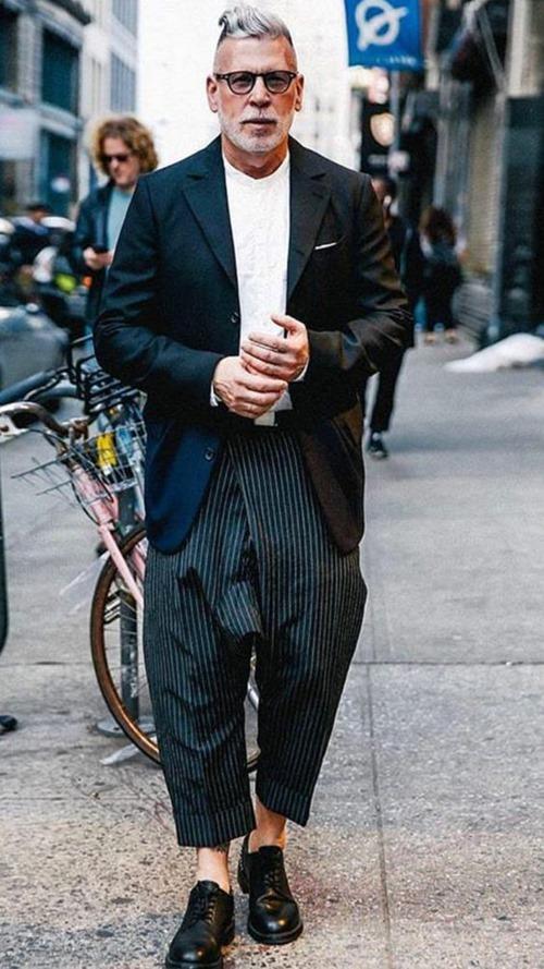 Nick Wooster mix đồ với suit đẳng cấp