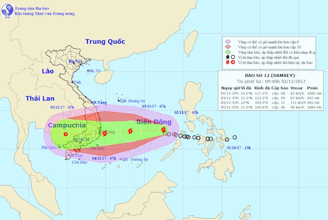 TP.HCM họp khẩn trước nguy cơ ảnh hưởng bởi bão số 12 - 1