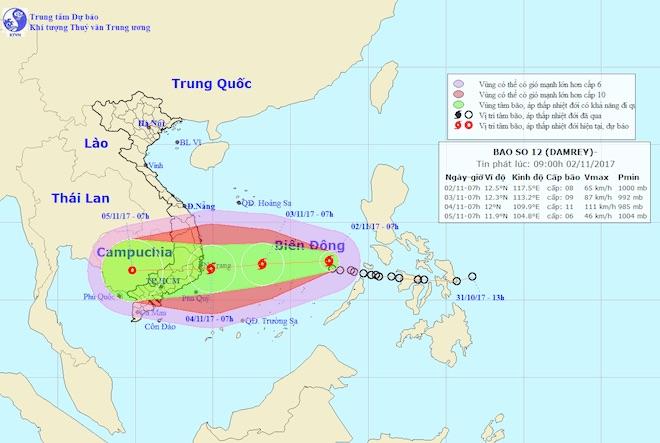 Bộ TT&TT phát công điện khẩn ứng phó bão số 12 trước thềm APEC 2017 - 1