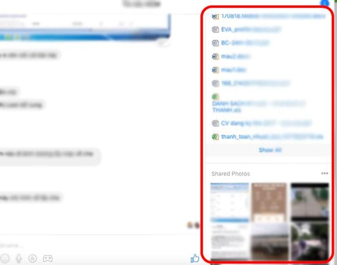 3 bước tìm lại mọi tập tin và hình ảnh đã gửi qua Facebook Messenger - 4