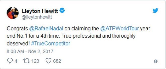Tin thể thao HOT 2/11: Thế giới tới tấp mừng Nadal giữ ngôi số 1 - 2