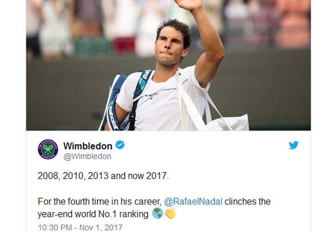 Tin thể thao HOT 2/11: Thế giới tới tấp mừng Nadal giữ ngôi số 1 - 3