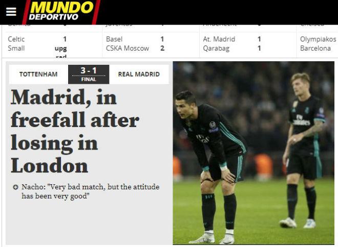 """Real """"tan nát"""" trước Tottenham: Báo Anh ngây ngất, an ủi Ronaldo - 4"""