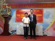 Honda Việt Nam trao thưởng cho trường có thí sinh đạt giải Cuộc thi Ý tưởng Trẻ thơ 2017