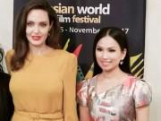 Phim - Em gái tỉ phú của Cẩm Ly gặp riêng Angelina Jolie tại LHP Mỹ