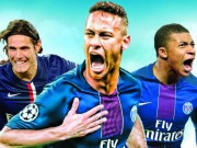 "PSG 17 bàn 4 trận Cúp C1:  "" Quỳ rạp ""  Neymar - Cavani - Mbappe"